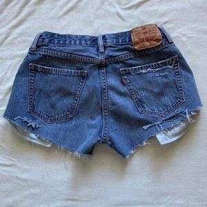 Levi's 515 hand distressed cutoff shorts size 27